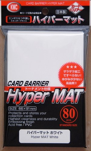 KMC Full Size Hyper Matte Sleeves (80-Pack), White, Standard Size, Fits MtG, Weiss, Pokemon