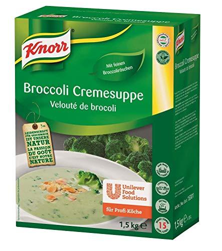 Knorr Broccoli Cremesuppe Trockenmischung (mit hochwertigen Broccoliröschen) 1er Pack (1 x 1,5 kg)
