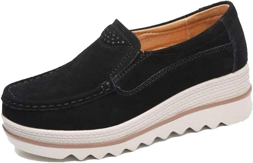 Details about  /New Women/'s Comfy Slip-On Sneakers Low Flat Platform Perforated Elastic Gore