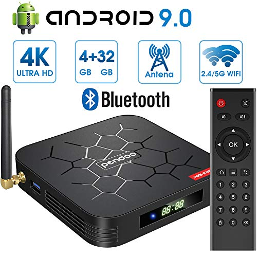 Android 9.0 TV Box 【4GB RAM+32GB ROM】 Android TV Box,