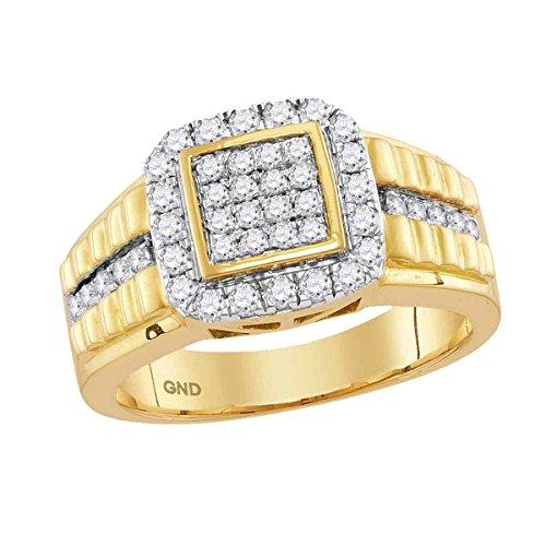 Jewels By Lux Anillo de Diamantes de Oro Amarillo para Hombre 8.5