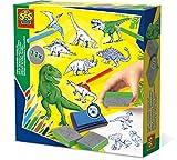 SES Creative Set de estampación de Dinosaurios SES, (14919)