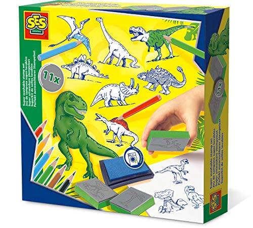SES 14919 Creative Dinosaurier-Stempelset Dinosaur Stempel-Set, Grün