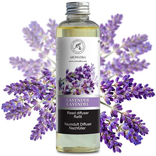 Raumduft Nachfüllflasche Lavendel 200ml - Nachfüller mit Naturreinem Ätherischen Lavendel Öl - Intensiv & Langanhaltend Aroma Natürlich - ohne Alkohol - Refill Raumduft Lavendel