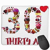 【2021新款】マウスパッドthirty Af 30th Year Old Birthday Party マウスパッドゲーミングマウスパッド大型ゲーミング滑り止めハイエンド流行のファッション防水耐久性滑り止めラバーボトム 25*30cm