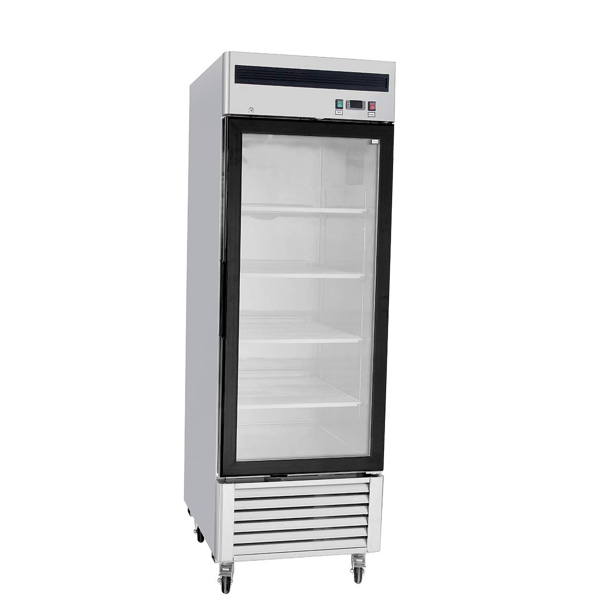 Stainless Steel Limited New Free Shipping time sale Single 1 Door Freezer Merchandi Commercial Glass