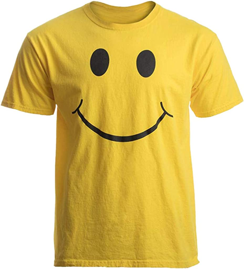 DIOMOR Men's Fashion Casual Smile Graphic Comfy Tees Shirts Short Sleeve Funny Teens Daliy Blouse Tops Sport Pullover