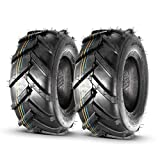 MaxAuto 2 PCS Super Lug Tractor Tire -16x6.50-8, 4PR, Tubeless