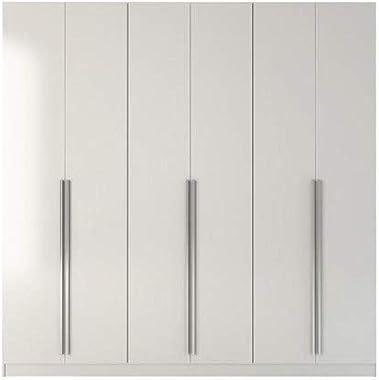 """Manhattan Comfort Eldrige Collection 6 Door Freestanding Wardrobe Closet for Bedroom Use, 90"""" L x 19"""" D x 90"""" H,"""
