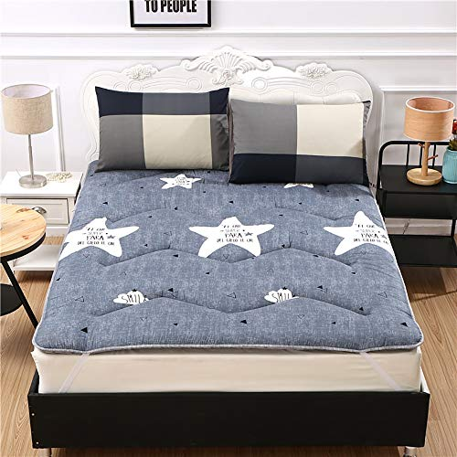 Foldable Mattresses,Floor Lazy Bed Mattresses for Student Single Dormitory Soft Mat,4,150 * 200cm
