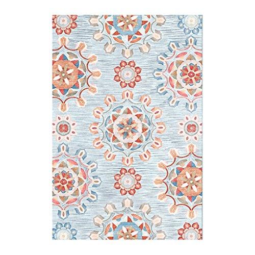 Alfombra cuadrada antigua patrón floral alfombra acogedora mesa de centro Alfombra dormitorio...