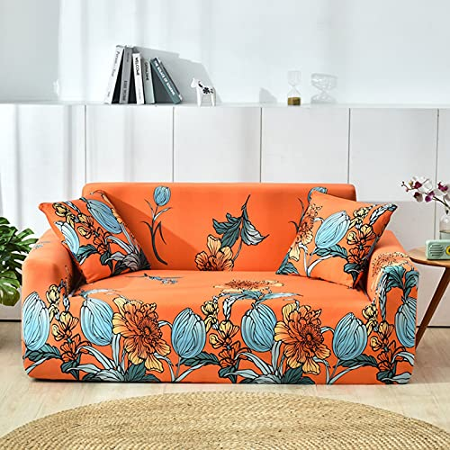 HJFGIRL Sofa Throw, Elastic Sofa Throws, Stretch Sofa Cover, Non-Slip Couch Cover, Sofa Cover, Armchair Cover, Furniture Protector, 1 Piece,D-140-180CM