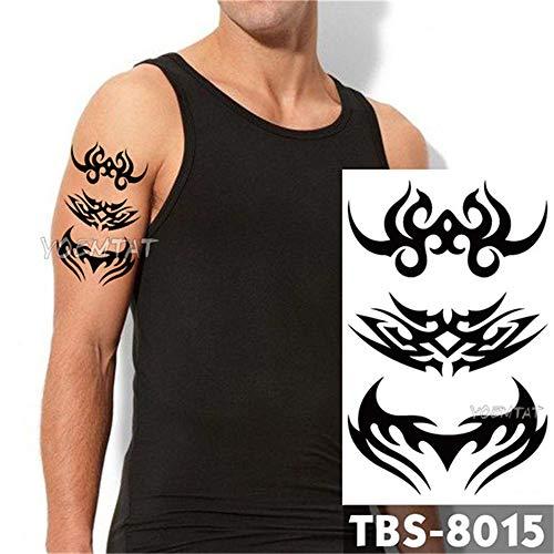 tzxdbh 3pcs-imperméable Tatouage temporaire feu Tatoo Eagle Lotus Mandala Oeil Flamme Totem 12 * 19cm Tatouage de Transfert de l' Eau pour Homme 3Pcs-