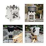 Lixada Camping Wood Stove Portable Wood Burning Stove Lightweight Alcohol Stove for Outdoor Cooking Backpacking Hiking Traveling (Titanium/Stainless Steel) 16