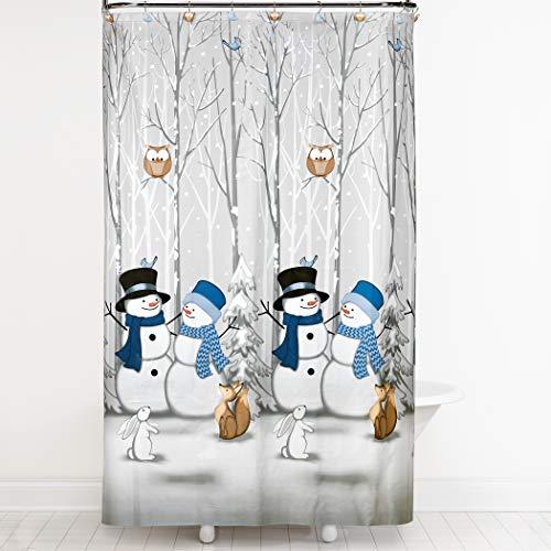 SKL Home by Saturday Knight Ltd. Winter Friends Shower Curtain, Gray