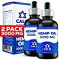 Hemp Oil Extract for Pain and Anxiety Relief - 2-Pack 3000 MG - Helps with Sleep, Skin & Hair - Grown & Made in USA - 100% Natural Peppermint Drops by Hemp Lake