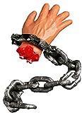 Scream Machine - Decoración para Manos, diseño de Cadena con Mano Cortada, Ideal para Halloween