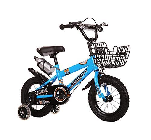 Kinderfahrräder Fahrrad pro Bambini, Bambini 4-6-8-11 Anni Ragazzi e Ragazze 14.12.16.18 Pollici Mountainbike (Farbe: Blau, Abmessung: 18 Zoll)
