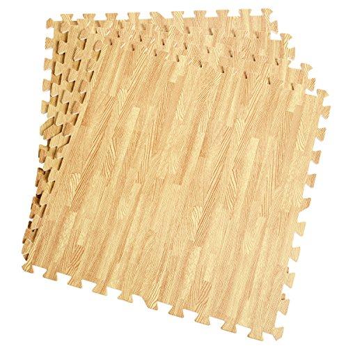 COSTWAY 12 Pezzi Tappetino a Puzzle 60x60cm, Set Tappeto di Protezione per Pavimento in Eva