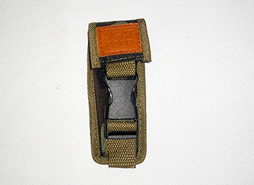 AK-47 CCCP Gürteltasche , Holster 14 cm für klassisches Militär Klappmesser Fallschirmjäger , Lederschild gestanzt mit : AK47 CCCP ! NEU ! OVP !
