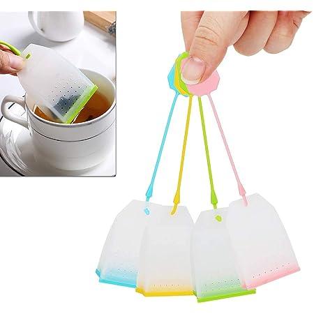 New Strainer Reusable Tea Bag Infuser Filter Diffuser Loose Tea Leaf Silicon^ky