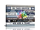 Inspirational Wall Art For Office Motivational Quotes Wall Decor We Are A Team Framed Canvas Wall Art Modern Office Wall Decor Office Size , 20x16 Inch