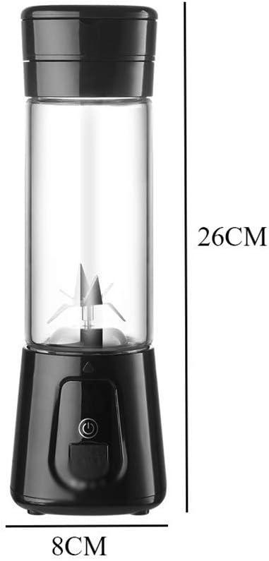 Pequeño Exprimidor Portátil Licuadora Licuadora de Frutas Exprimidor de Frutas Máquina de la Máquina Casa con Usb Recargable 420 Ml, O&YQ, Negro Negro