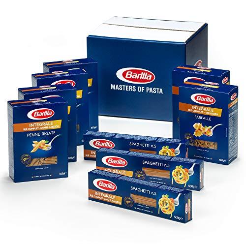 Variety Pack Blé Complet Barilla - Multipack avec 3 types de Pâtes au blé complet, 9 paquets de 500 g (4,5 kg total)