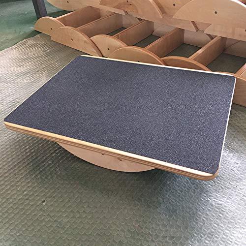 Tabla De Equilibrio Oscilante De Madera,Superficie Antideslizante,Tabla De Equilibrio LXJ para Debajo del Escritorio (Color Madera)