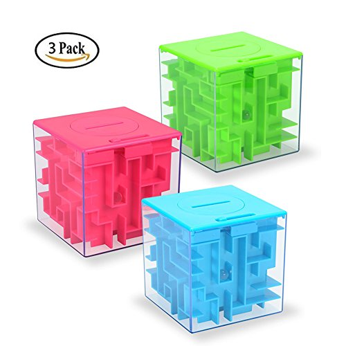 Money Maze Puzzle Box, Twister.CK Money Holder Puzzle for Kids and Adults Birthday Christmas Gifts (3 Pack) (Best Grow Box For The Money)