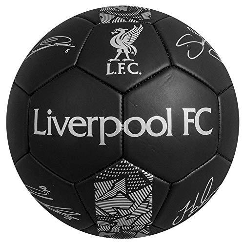 Liverpool FC Signature - Calcio da calcio, taglia 5, colore: Nero