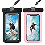 [2 Pack] JOTO Waterproof Phone Pouch Case, IPX8 Underwater Dry Bag for iPhone 12 Pro Max, 11 Xs Max XR X 8 7 6S Plus…