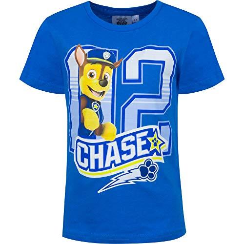 Paw Patrol Jungen Chase T-Shirt Kurzarm Blau 98