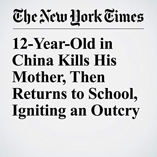 12-Year-Old in China Kills His Mother, Then Returns to School, Igniting an Outcry audiobook cover art