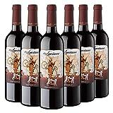 Don Luciano Tempranillo, Vino Tinto D.O La Mancha, Pack de 6 Botellas x 75 cl, Volumen de Alcohol 12.5%