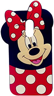 Case for LG Stylo 4, LG Stylo 4 Plus,Q Stylus Case, Minnie 3D Cartoon Animal Slim Silicone Protective Cover Shockproof Case, Kids Girls Gifts Cases, Protector Skin Stylo 4 Plus/Q Stylus/ Stylus 4 Plus