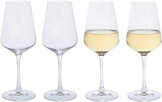 DARTINGTON CRYSTAL - Crystal White Wine Glasses, Set of 4 x 350ml