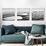 Leinwandbilder 3 teilig Hotelzimmer Restaurant Wandbild Sofa Hintergrund Malerei moderne dekorative Malerei nordischen minimalistischen Wohnzimmer landscape_MujOLTny-40x40cmx3,Mit Rahmen