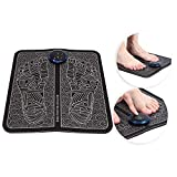 EMS Fußmassagegerät, elektrische Faltung Tragbare Fußmatte Einstellbar 6 Vibrationsmodi Fußmassagematte Verbessert die Durchblutung Lindert Schmerzen(USB Charging)