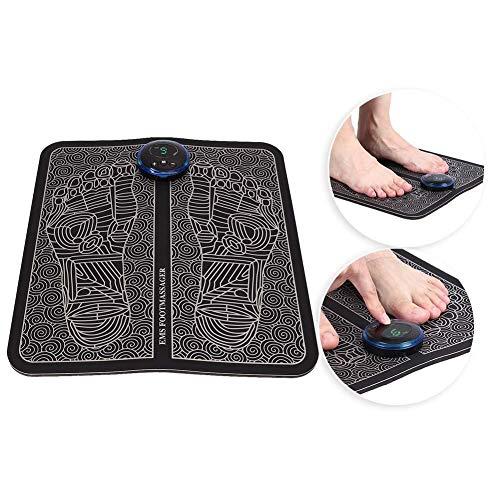 Máquina de masaje de pies Eléctrico EMS Almohadilla de masaje de pies Pies Acupuntura Estimulador Masajeador Mejora la circulación Relajación Rigidez Músculos Alivia el dolor(Tipo de carga)