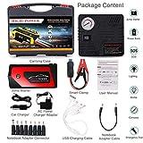 Arrancador de Coche,TRONMA 20000mAh 600A Real Jump Starter 12V,Arranque Batería para vehículo con Pinzas inteligentes,Bateria Externa,4 Puertos USB,Luz LED,Toma de mechero,Pantalla digital,con brújula