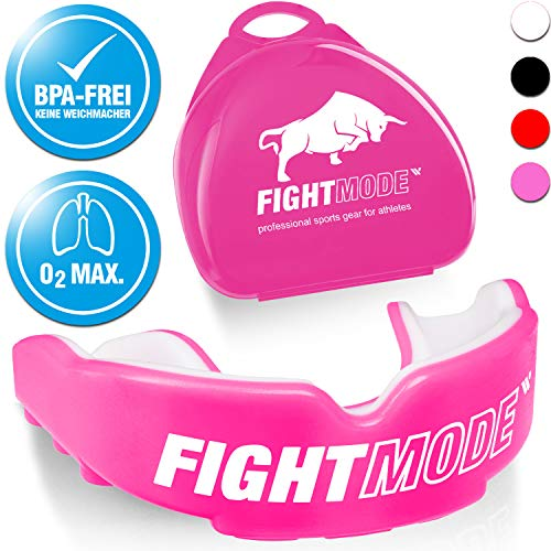 weletix Profi Mundschutz Pink + Box + max. O₂ + BPA freier Zahnschutz | Sicherer Halt im Kampfsport | Boxen, MMA, Krav MAGA