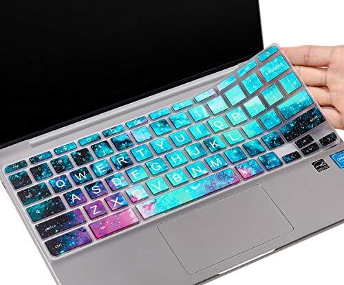 CaseBuy Keyboard Cover for HP Chromebook 14-db 14-ca 14-ak Series/Chromebook 14 G2 G3 G4 G5 /HP Chromebook 11 x360 11.6/ HP Chromebook 11 G2, G3, G4, G5, G6 EE, G7 EE 11.6(Upper Case, Galaxy)