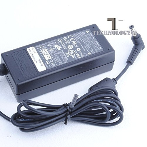 65W Delta Electronics AC Adapter Charger for Toshiba Satellite / Satellite Pro C650 C650D C850 C50 C50D C55 C55D C70 C70D C75 C75D L50 L70 Laptop Notebook Series Power Supply - 19V 3.42A - with UK Power Cord Pin Size 5.5 x 2.5 mm