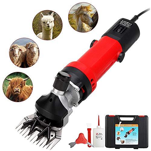 GRX-ADRE elektrische schaapmachine, 350 W, scheermachine, paard, runder, schaap, geiten, dierenschaarmachine, met 6 snelheden, verstelbaar