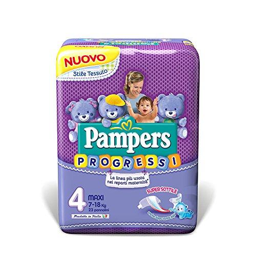 Pampers Progressi Pannolini Maxi, Taglia 4 (7-18 kg), 22 Pannolini