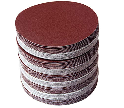 30 Stück/Set Schleifpapiere 100 mm Körnung 320/400/600/800/1000/1500 Schleifscheiben Hakenschleifen Schleifpapier Hochwertige Zubehörteile, rot