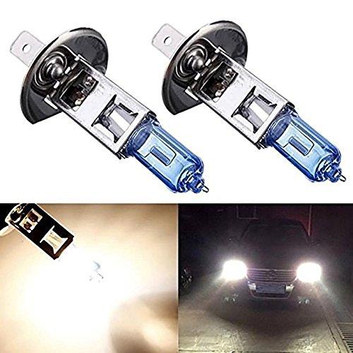 KATUR Lot de 2 ampoules halogènes au xénon H1 12 V 55 W 5000 K