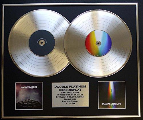 IMAGINE DRAGONS/Zweifache Platin Schallplatte DISPLAY/Limitierte Edition/COA/NIGHT VISIONS & EVOLVE