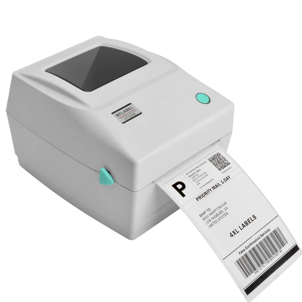 Amazon Com Mflabel Label Printer 4x6 Thermal Printer Commercial Direct Thermal High Speed Usb Port Label Maker Machine Etsy Ebay Amazon Barcode Express Label Printing White Electronics